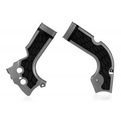 Protections de cadre ACERBIS X-GRIP - HONDA CRF '14/16 - Argent / Noir