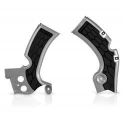 Protections de cadre ACERBIS X-GRIP - KAWASAKI KXF450 '09/17 - Argent / Noir
