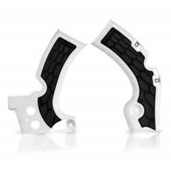 Protections de cadre ACERBIS X-GRIP - KAWASAKI KXF450 '09/17 - Blanc / Noir