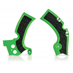 Protections de cadre ACERBIS X-GRIP - KAWASAKI KXF450 '09/17 - Vert / Noir