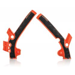 Protections de cadre ACERBIS X-GRIP - KTM/HVA 85 '13/17 - Orange KTM 2016 / Noir