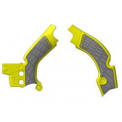 Protections de cadre ACERBIS X-GRIP - SUZUKI RMZ450 '08/17 - Jaune / Gris