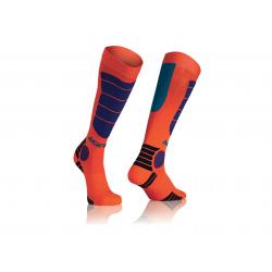 Chaussettes ACERBIS MX IMPACT - Orange fluo / Bleu