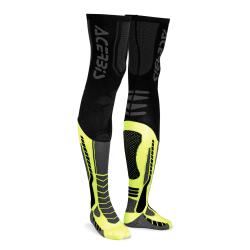 Chaussettes hautes ACERBIS X-LEG PRO - Noir / Jaune fluo