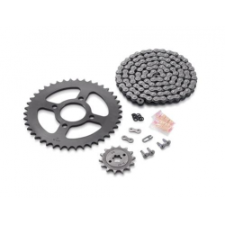 Kit chaîne- couronne acier - chaîne DID