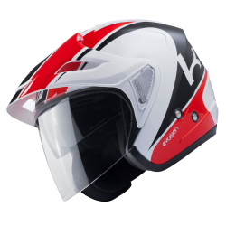 Casque KENNY EVASION - Blanc Rouge