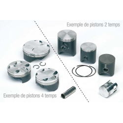 Piston complet forgé TECNIUM Ø46,95mm - HONDA CR80R  (82CC) '86-02