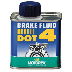 Liquide de frein DOT 4 MOTOREX - 250mL
