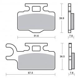 Plaquettes de frein SBS 752SI