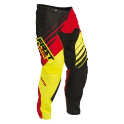 Pantalon DATA 2016 FIRST RACING - Rouge / Jaune fluo