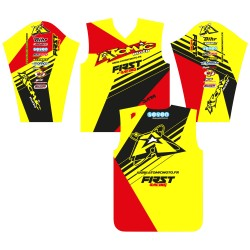 Maillot ATOMIC 2016 - Rouge / Jaune fluo