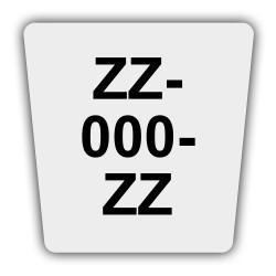 Plaque immatriculation enduro non homologuée