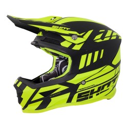 Casque SHOT Furious Riot Jaune fluo