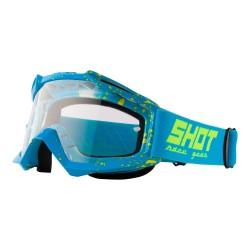 Lunettes SHOT Assault - DROP Bleu / Jaune fluo