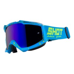 Lunettes SHOT Iris - SCRATCH Bleu / Jaune fluo