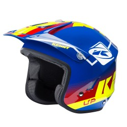 Casque KENNY Trial Up Graphic - Bleu / Rouge / Jaune