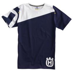 Tshirt HUSQVARNA Inventor - Bleu / Blanc
