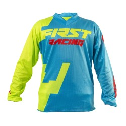 Maillot enfant CODE KID FIRSTRACING - Bleu / Lime fluo