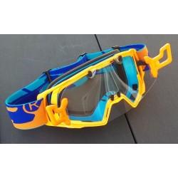 Masque DEPT63 Orange fluo + Kit R-FLOW