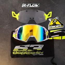 Masque DEPT63 Blanc / Jaune fluo + Kit R-FLOW coloris au choix