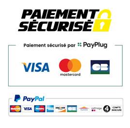Paiement sécurisé via PayPlug ou PayPal