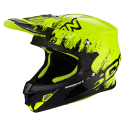 Casque SCORPION VX-21 AIR MUDIRT Noir-Jaune fluo