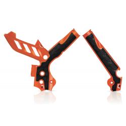 Protections de cadre ACERBIS X-GRIP - KTM SX '11/15 EXC '12/16 - Orange / Noir