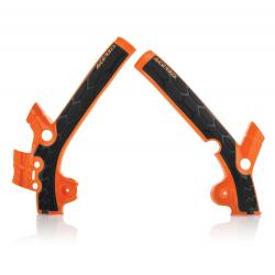Protections de cadre ACERBIS X-GRIP - KTM/HVA 85 '13/17 - Orange / Noir