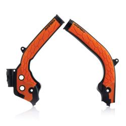 Protections de cadre ACERBIS X-GRIP - KTM/HVA SX/TC '16/17 EXC/TE '17 - Noir / Orange