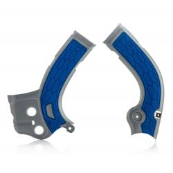 Protections de cadre ACERBIS X-GRIP - YAMAHA YZF250 '14/17 YZF450 '14/15 - Argent / Bleu