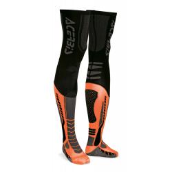 Chaussettes hautes ACERBIS X-LEG PRO - Noir / Orange fluo