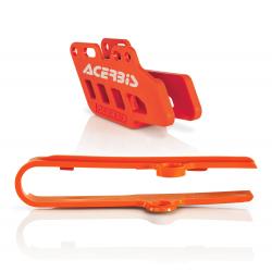 Guide + patin de chaîne ACERBIS - KTM 85 '06/14 - Orange
