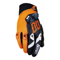 Gants SHOT DEVO SQUAD Gris / Neon Orange