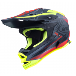 Casque enfant KENNY PERFORMANCE - Noir Mat Rouge Jaune