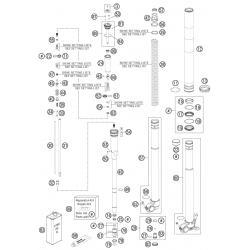 Fourche détaillée HUSQVARNA 450 FS 2015