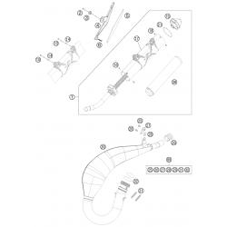 Échappement 2T HUSABERG 125 TE 2013/2014