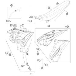 Réservoir - Selle - Plastiques