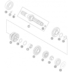 Boîte de vitesse - arbre primaire