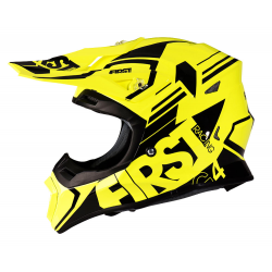 Casque G4 fibre FIRST RACING - Jaune fluo