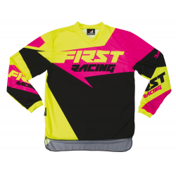Maillot DATA 2017 FIRST RACING - Rose fluo