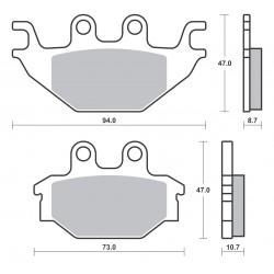 Plaquettes de frein SBS 810SI