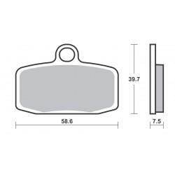 Plaquettes de frein SBS 885SI