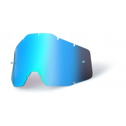 Écran 100% RACECRAFT/ACCURI/STRATA - Anti-buée miroir bleu