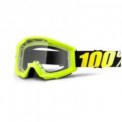 Lunettes 100% STRATA - Neon Yellow // Écran clair