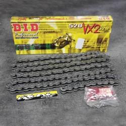 Chaîne DID 520 VX2 joints toriques super renforcée - 118 maillons