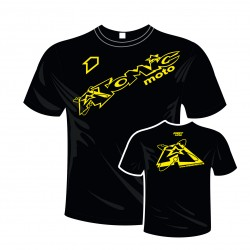 T-shirt coton ATOMIC - Noir / Jaune