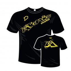 T-shirt femme coton ATOMIC - Noir / Jaune