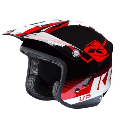 Casque KENNY Trial Up Graphic - Rouge / Noir / Blanc