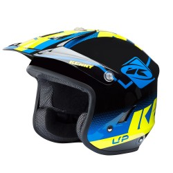Casque KENNY Trial Up Graphic - Bleu / Jaune fluo