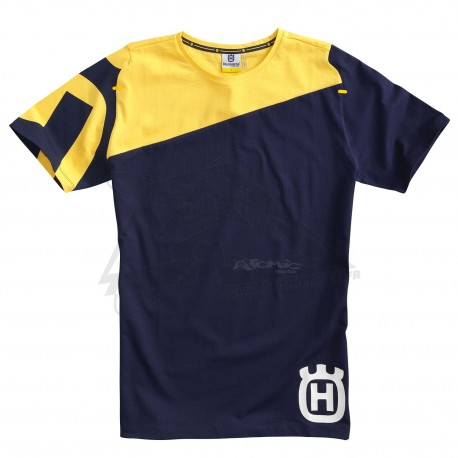 Tshirt HUSQVARNA Inventor - Bleu / Jaune